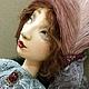Коллекционные куклы ручной работы. Будуарная кукла из дерева и папьемаше 65см. Елена Коверзнева (ElenaKoverzneva). Ярмарка Мастеров. Фото №5
