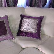 Подушка декоративная, с декором на заказ