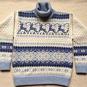 """Одежда ручной работы. Ярмарка Мастеров - ручная работа Джемпер/свитер """"Норвежские звездные олени"""" (Микс). Handmade."""