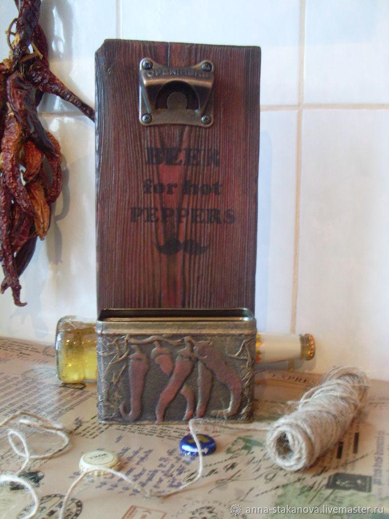 """Настенная открывашка для пивных бутылок """"Для горячих перцев"""", Утварь, Новокузнецк,  Фото №1"""