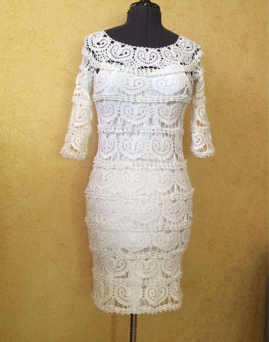 """Платья ручной работы. Ярмарка Мастеров - ручная работа. Купить Платье """" Белое сердечко"""". Handmade. Платье нарядное"""