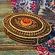 Шкатулки ручной работы. Ярмарка Мастеров - ручная работа. Купить Шкатулка из бересты прорезная овальная с янтарем. Handmade. Береста