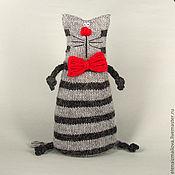 Куклы и игрушки ручной работы. Ярмарка Мастеров - ручная работа Кот большой праздничный вязаный. Handmade.