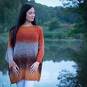 Одежда ручной работы. Ярмарка Мастеров - ручная работа Женский свитер Вязаный шерстяной свитер оверсайз Большие размеры. Handmade.