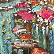 Картины и панно ручной работы. Ярмарка Мастеров - ручная работа Холст, масло,  30х15см, Венеция. Handmade.