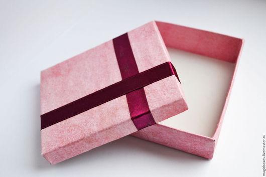 Упаковка ручной работы. Ярмарка Мастеров - ручная работа. Купить Коробочка подарочная Розовая. Handmade. Розовый, коробка, украшения