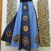 """Одежда ручной работы. Ярмарка Мастеров - ручная работа Авторская юбка """"Boho-Jeans"""". Handmade."""
