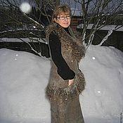 Одежда ручной работы. Ярмарка Мастеров - ручная работа Сарафанчик с воротником для Ледникового периода. Handmade.