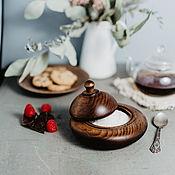 Посуда handmade. Livemaster - original item Wooden Sugar bowl Siberian Cedar for honey, salt, spices #K48. Handmade.
