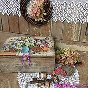 """Для дома и интерьера ручной работы. Ярмарка Мастеров - ручная работа Шкатулка"""" Сирень из старого сада"""". Handmade."""
