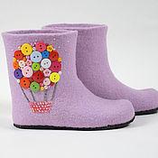 "Обувь ручной работы handmade. Livemaster - original item Children woolen slippers ""On the air ballon"". Handmade."