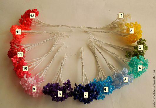 Другие виды рукоделия ручной работы. Ярмарка Мастеров - ручная работа. Купить Вставки из мелких цветочков 10 шт. Handmade.