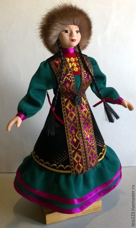 Народные куклы ручной работы. Ярмарка Мастеров - ручная работа. Купить Кукла в башкирском народном костюме Айсылу. Handmade.
