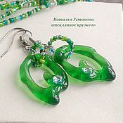 Украшения handmade. Livemaster - original item earrings made of glass