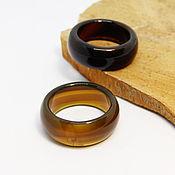 Украшения handmade. Livemaster - original item Wide ring brown agate 19.5 R-R Hot chocolate. Handmade.