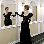 Одежда ручной работы. Ярмарка Мастеров - ручная работа Черное выходное платье в стиле модерн. Handmade.
