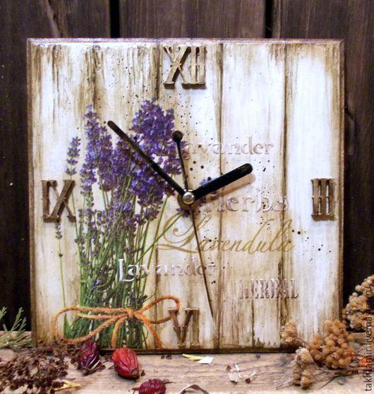 """Часы для дома ручной работы. Ярмарка Мастеров - ручная работа. Купить Часы """"Пряные травы. Lavender"""". Handmade. Часы"""