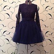 Одежда ручной работы. Ярмарка Мастеров - ручная работа Вечернее кружевное платье  с фатиновой юбкой, платье на выпускной. Handmade.