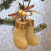 Русский стиль handmade. Livemaster - original item Mini gift boots. Handmade.