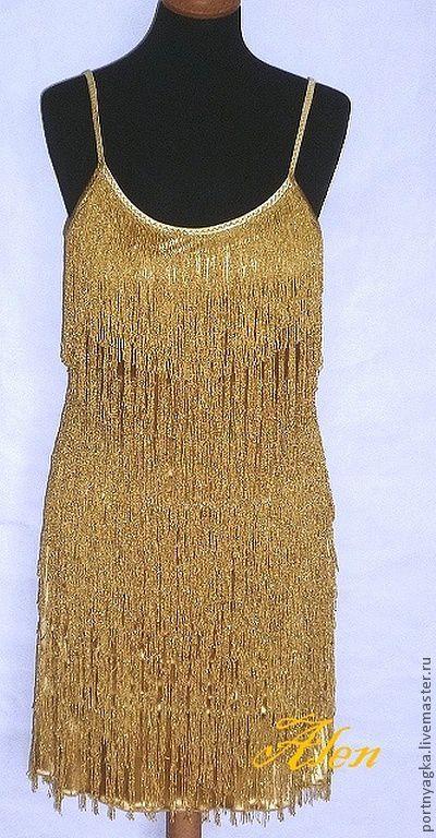 Платья ручной работы. Ярмарка Мастеров - ручная работа. Купить Клубное платье Золотая леди. Handmade. Золотой, короткое платье