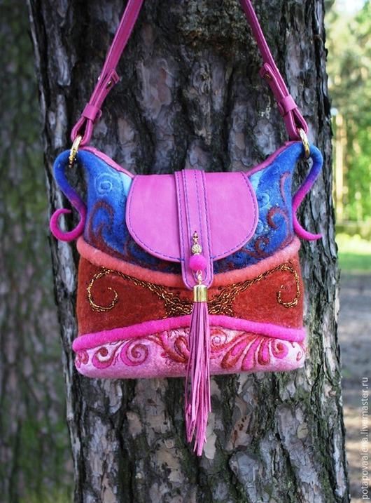 Женские сумки ручной работы. Ярмарка Мастеров - ручная работа. Купить Авторская сумочка для Адель. Handmade. Разноцветный, сумочка