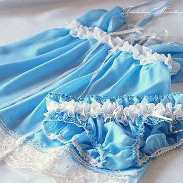 """Одежда ручной работы. Ярмарка Мастеров - ручная работа """"Небесное чудо"""". Комплект белья ручной работы. Handmade."""