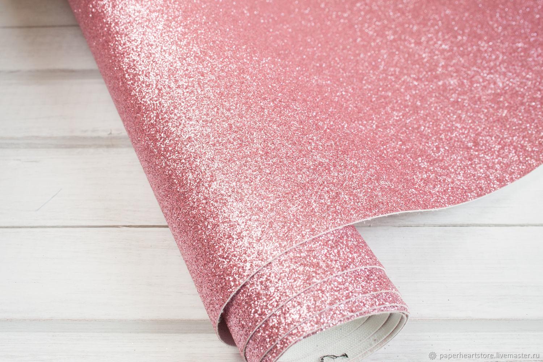 Другие виды рукоделия ручной работы. Ярмарка Мастеров - ручная работа. Купить Ткань с глиттером светло-розовая. Handmade. Скрапбукинг