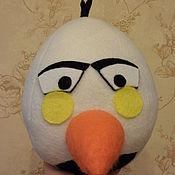 Куклы и игрушки ручной работы. Ярмарка Мастеров - ручная работа Птичка Angry Birds белая. Handmade.