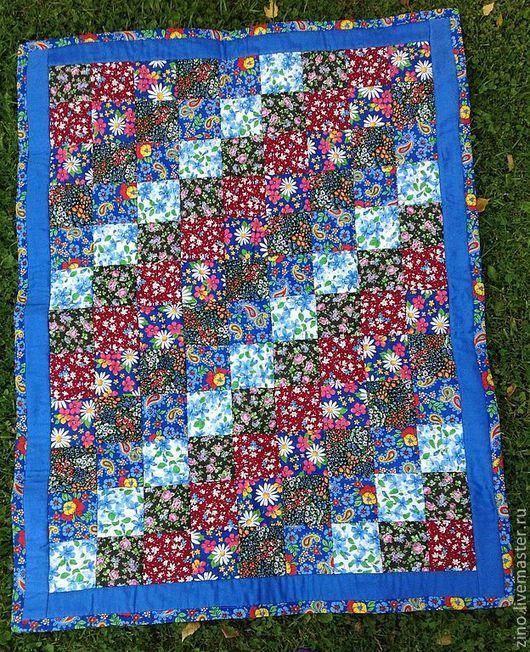 """Детская ручной работы. Ярмарка Мастеров - ручная работа. Купить Одеяло """"Синяя мечта"""". Handmade. Одеяло, лоскутное покрывало"""