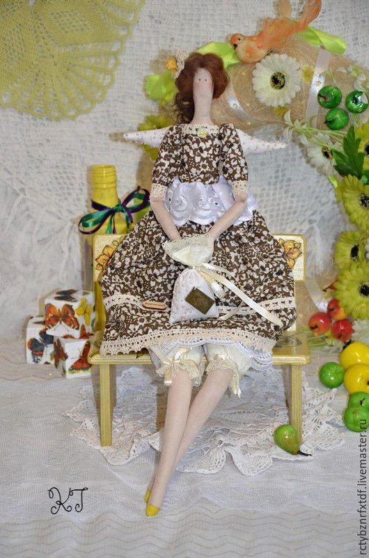 Куклы Тильды ручной работы. Ярмарка Мастеров - ручная работа. Купить Кукла Тильда Ангел Симонетта текстильная, интерьерная.. Handmade.