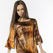 Одежда handmade. Livemaster - original item Dress crinkled velvet (art. 2133). Handmade.