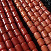 Бусины ручной работы. Ярмарка Мастеров - ручная работа Бусина 4х5 мм Цилиндрик (12), коралл. Handmade.