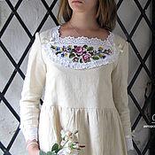 """Одежда ручной работы. Ярмарка Мастеров - ручная работа Платье """"С розами"""" грушевое. Handmade."""
