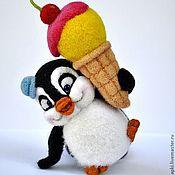 Куклы и игрушки ручной работы. Ярмарка Мастеров - ручная работа Пингвин и Лимонно-вишневый щербет). Handmade.