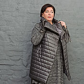 Одежда handmade. Livemaster - original item Quilted vest dark grey. Art.1222.. Handmade.