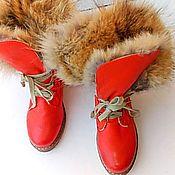 Обувь ручной работы handmade. Livemaster - original item Winter women boots with genuine Fox fur. Handmade.