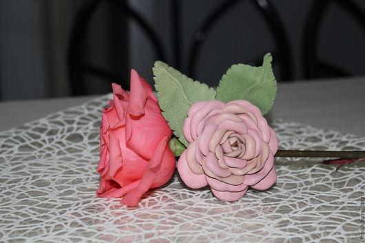 """Броши ручной работы. Ярмарка Мастеров - ручная работа. Купить Брошь """" Романтик"""". Handmade. Бледно-розовый, кожанная брошь"""
