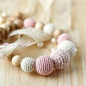 Одежда ручной работы. Ярмарка Мастеров - ручная работа Романтичные слингобусы на винтажных кружевах - нежно-розовые-экрю. Handmade.