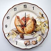 Для дома и интерьера handmade. Livemaster - original item Porcelain painting Watch the Pomegranate and the grasshopper. Handmade.