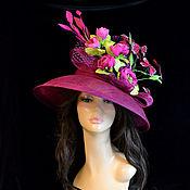 Аксессуары handmade. Livemaster - original item Exclusive fuchsia hat