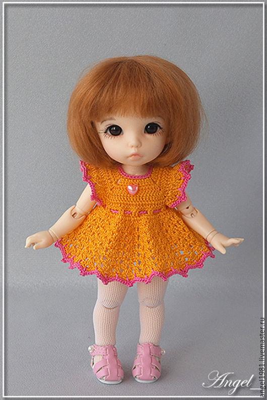 """Одежда для кукол ручной работы. Ярмарка Мастеров - ручная работа. Купить Платье для куклы BJD (PukiFee)  """"Лето"""". Handmade. Желтый"""