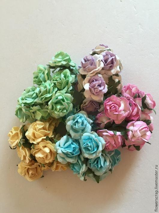 Розы микс, 28мм., 1уп.(50шт.) - 650р.