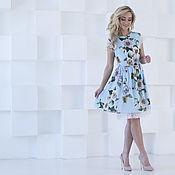 Одежда ручной работы. Ярмарка Мастеров - ручная работа Платье короткое летнее, платье цветочное. Handmade.