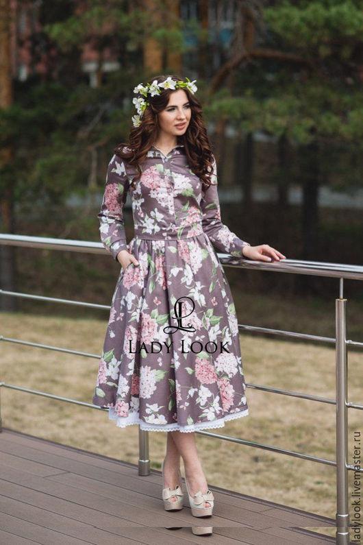 Платья ручной работы. Ярмарка Мастеров - ручная работа. Купить Платье Look № 192. Handmade. Платье, романтичное, сиреневый