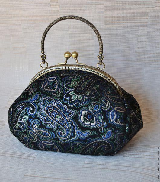 Женские сумки ручной работы. Ярмарка Мастеров - ручная работа. Купить Сумочка из натуральной кожи с принтом пейсли. Handmade. Комбинированный