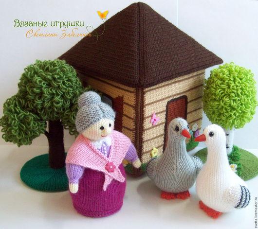 """Развивающие игрушки ручной работы. Ярмарка Мастеров - ручная работа. Купить """"Гуси у бабуси"""" вязаные персонажи детской песенки. Handmade."""