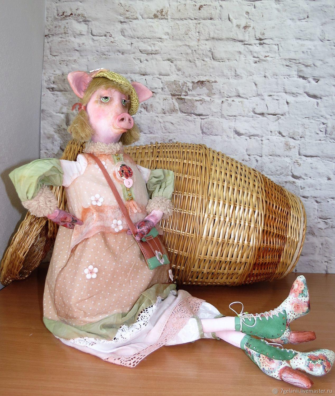 Свинка Моника - Украшение для интерьера, Куклы и пупсы, Москва,  Фото №1