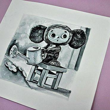 """Картины и панно ручной работы. Ярмарка Мастеров - ручная работа Рисунок """"Чебурашка"""" :). Handmade."""