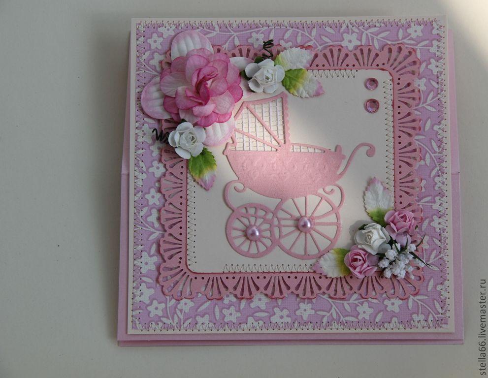 Цветы галине, подарок на рождение девочки открытка