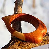 Украшения ручной работы. Ярмарка Мастеров - ручная работа Браслет деревянное сердце. Handmade.